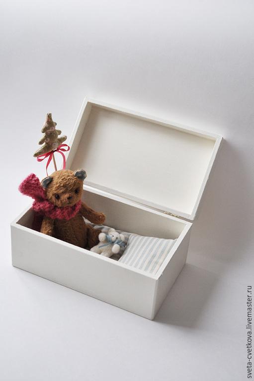 Мишки Тедди ручной работы. Ярмарка Мастеров - ручная работа. Купить Плюшевый мишка в коробочке. Handmade. Коричневый, стеклянные глазки