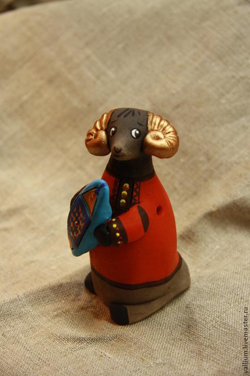 Игрушки животные, ручной работы. Ярмарка Мастеров - ручная работа. Купить Барашки. Handmade. Баран, народная игрушка, свистулька, акрил