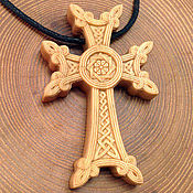 handmade. Livemaster - original item Suspension: Armenian cross. Handmade.