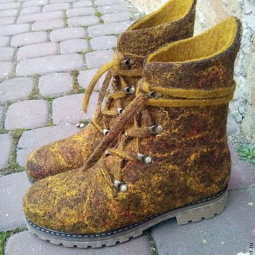 """Обувь ручной работы. Ярмарка Мастеров - ручная работа ботинки валяные """"Проминчики"""". Handmade."""