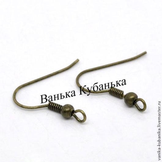 Швензы-крючки с шариком, цвет бронза 18x19x0.8мм,  цена за 10 пар  руб.23.00  цена за 100 пар  руб.150.00