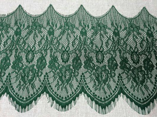 Аппликации, вставки, отделка ручной работы. Ярмарка Мастеров - ручная работа. Купить 2 м Кружево реснички  16 т.зеленый. Handmade.