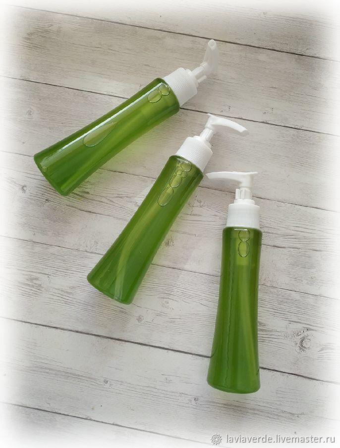 """Пена, молочко для ванны ручной работы. Ярмарка Мастеров - ручная работа. Купить Концентрированный гель для душа """"Зеленый манго и ромашка"""". Handmade."""