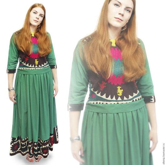"""Платья ручной работы. Ярмарка Мастеров - ручная работа. Купить Платье """"Изумруд"""". Handmade. Зеленый, платье, вечерний наряд, сюзане"""