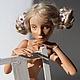 Коллекционные куклы ручной работы. Ярмарка Мастеров - ручная работа. Купить Кукла шарнирная Наташа. Handmade. Кремовый, кукла в подарок