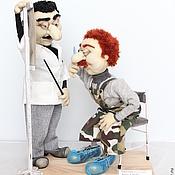 Куклы и игрушки ручной работы. Ярмарка Мастеров - ручная работа На приеме у офтальмолога. Handmade.