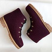 Обувь ручной работы. Ярмарка Мастеров - ручная работа мужские ботинки темно-фиолетовые. Handmade.