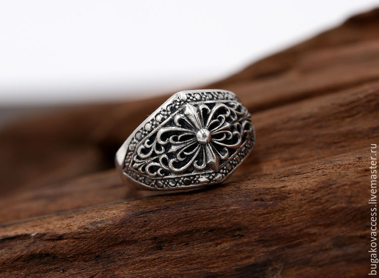 Ring in the form of a cross from silver 925, Rings, Moscow,  Фото №1