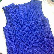 """Одежда ручной работы. Ярмарка Мастеров - ручная работа вязаный жилет """"Ниночка"""" ручной работы. Handmade."""