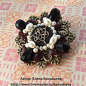 Украшения handmade. Livemaster - original item Brooch with pearl and garnet. Handmade.