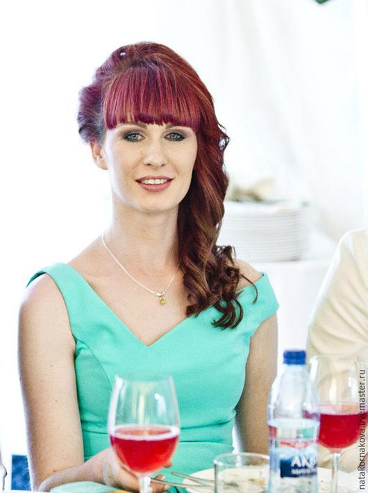 Платья ручной работы. Ярмарка Мастеров - ручная работа. Купить Платье подружки невесты-1. Handmade. Бирюзовый, платье в пол