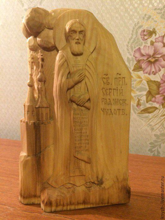 """Статуэтки ручной работы. Ярмарка Мастеров - ручная работа. Купить резная статуэтка из дерева .  """"Сергий Радонежский"""". Handmade. Резная скульптура"""