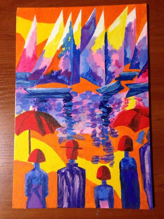 Абстракция ручной работы. Ярмарка Мастеров - ручная работа. Купить Ожидание - картина акрилом. Handmade. Картина, картина для интерьера