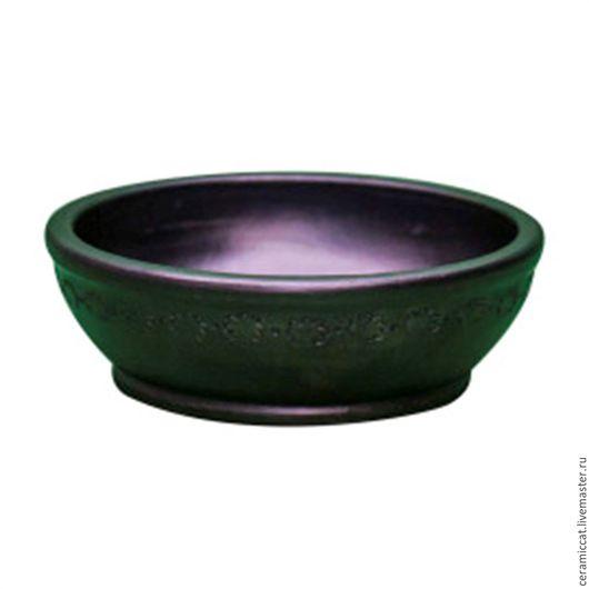 Посуда ручной работы. Ярмарка Мастеров - ручная работа. Купить Тарель средняя. Handmade. Разноцветный, чернолощеная керамика, керамическая посуда