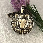 Фен-шуй и эзотерика handmade. Livemaster - original item Medved2 Yugra talisman,amulets talismans, amulets, metal,bronze. Handmade.