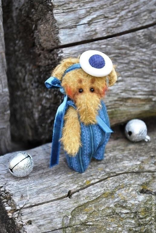 Мишки Тедди ручной работы. Ярмарка Мастеров - ручная работа. Купить Слоня  Буба (миниатюра - брошка). Handmade. Синий, слоны