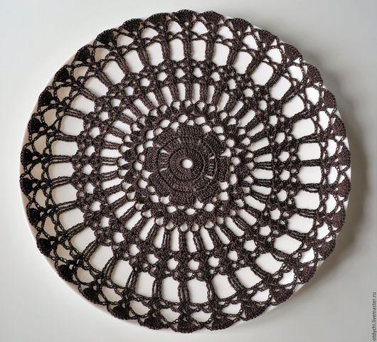 Текстиль, ковры ручной работы. Ярмарка Мастеров - ручная работа. Купить НОЧКА салфетка декоративная. Handmade. Темно-коричневый