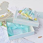 Открытки ручной работы. Ярмарка Мастеров - ручная работа Коробочка для подарка новорожденному мальчику. Handmade.