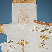 """Комплект для крещения ручной работы. Ярмарка Мастеров - ручная работа Крестильный набор """"Знамение"""". Handmade."""