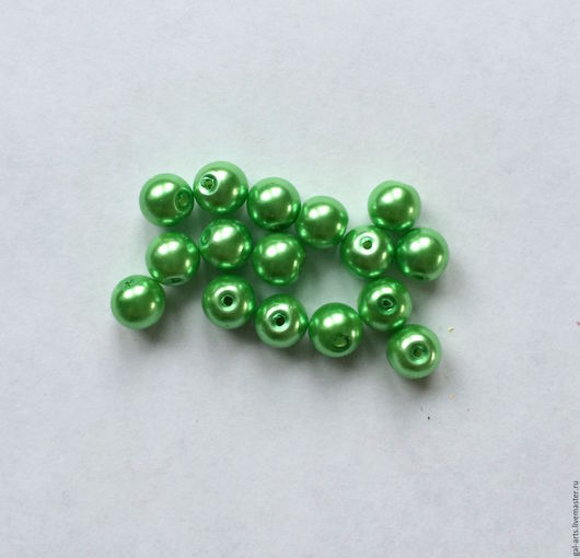 Для украшений ручной работы. Ярмарка Мастеров - ручная работа. Купить ОСТАТОК Бусина 8 мм ярко-зеленая. Handmade.