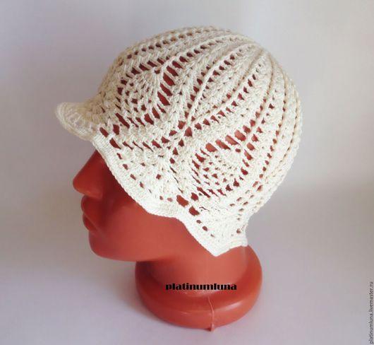 """Шляпы ручной работы. Ярмарка Мастеров - ручная работа. Купить Шляпка для девочки """"Крем-брюле"""". Handmade. Бежевый, шляпка для девочки"""