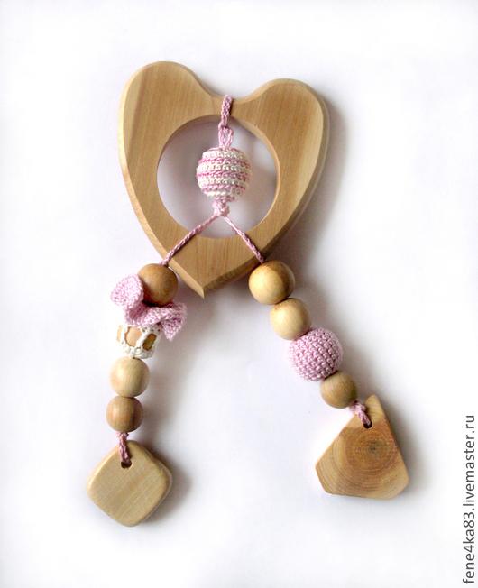 """Развивающие игрушки ручной работы. Ярмарка Мастеров - ручная работа. Купить Грызунок-прорезыватель """"Сердце"""". Handmade. Бледно-сиреневый, прорезыватель"""