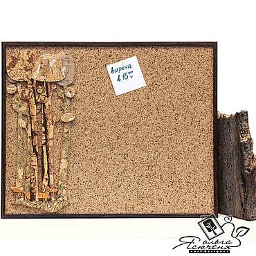 Картины и панно ручной работы. Ярмарка Мастеров - ручная работа Пробковая доска для записей «Рыжая лисичка в лесу». Handmade.