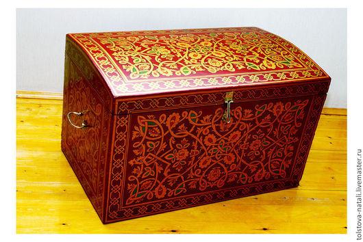 Мебель ручной работы. Ярмарка Мастеров - ручная работа. Купить Сундук славянский. Handmade. Разноцветный, мебель ручной работы