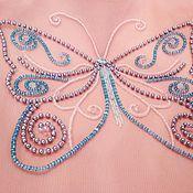 Декор ручной работы. Ярмарка Мастеров - ручная работа Декор: Вышивка бисером на сетке для пошива платья. Handmade.