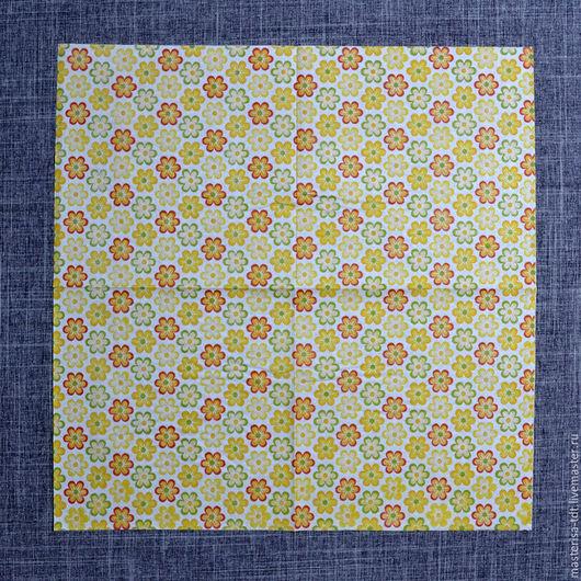 СФ-1020503. Салфетки бумажные `Цветочки` желтые