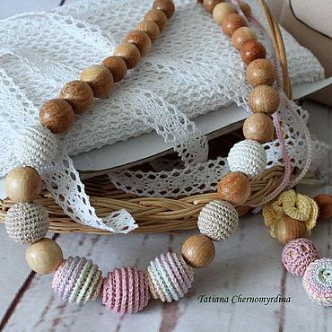 Товары для малышей ручной работы. Ярмарка Мастеров - ручная работа Слингобусы из можжевельника пудровые. Handmade.