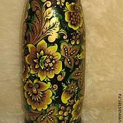 Русский стиль ручной работы. Ярмарка Мастеров - ручная работа Хохломской штоф под бутылку шампанского. Handmade.