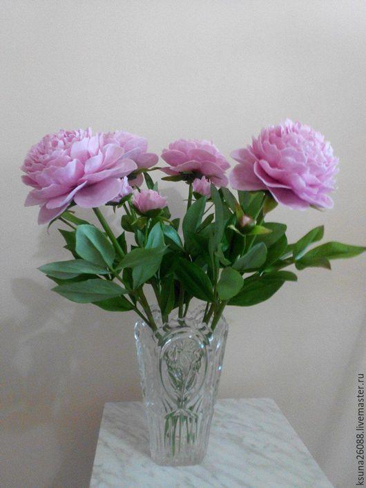 Цветы ручной работы. Ярмарка Мастеров - ручная работа. Купить букет пионов из полимерной глины. Handmade. Розовый, интерьерная композиция