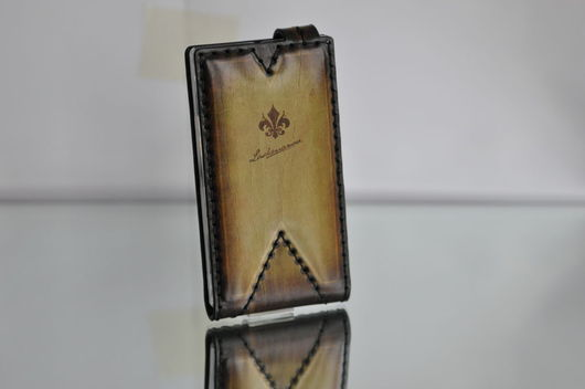 Для телефонов ручной работы. Ярмарка Мастеров - ручная работа. Купить Чехол для Nokia XL из Кожи Ручной работы №66. Handmade.