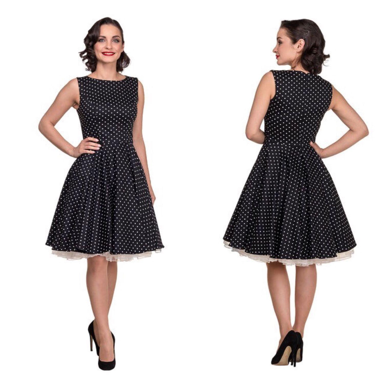 651032712946e83 Купить Платье чёрное в мелкий белый Платья ручной работы. Платье чёрное в  мелкий белый горошек. Элегантные платья. Интернет-
