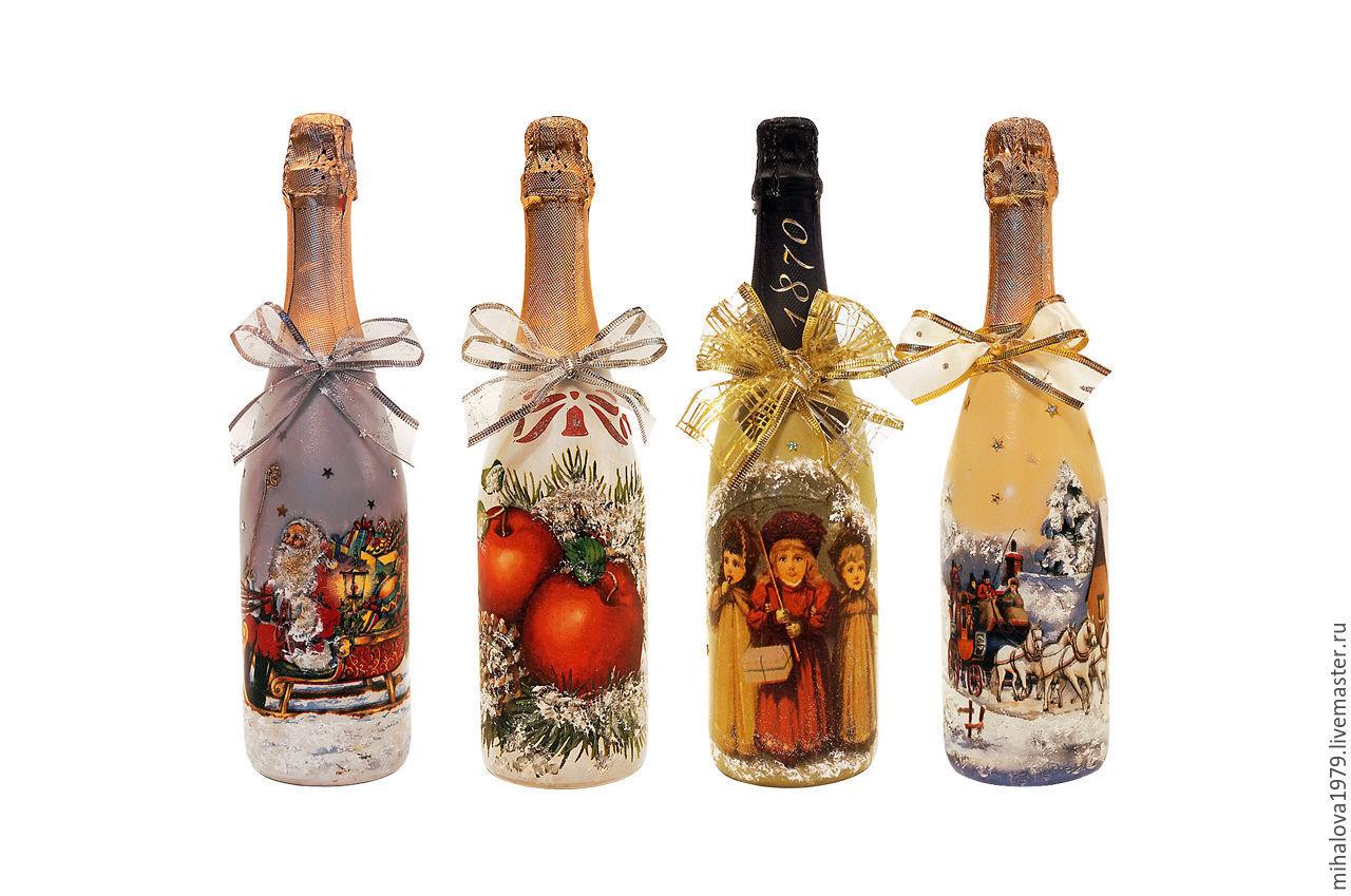 Суёт бутылку от шампанского 3 фотография