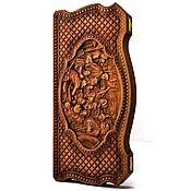 """Активный отдых и развлечения handmade. Livemaster - original item Copy of backgammon """"Emblem of Russia"""". Handmade."""