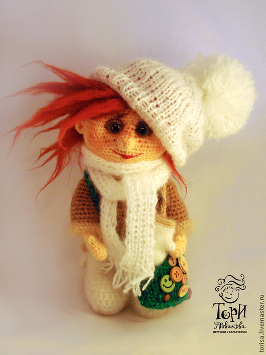 Человечки ручной работы. Ярмарка Мастеров - ручная работа. Купить Кукла Санька. Handmade. Рыжий, подарок маме, авторская кукла