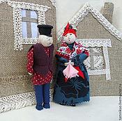 """Куклы и игрушки ручной работы. Ярмарка Мастеров - ручная работа Куклы  семейная пара""""Валдайская парочка"""". Handmade."""