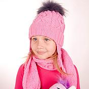 Аксессуары ручной работы. Ярмарка Мастеров - ручная работа Комплект Шапочка и шарфик. Handmade.