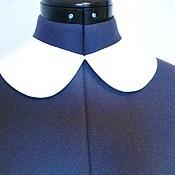 Аксессуары handmade. Livemaster - original item Removable collar universal white crepe. Handmade.