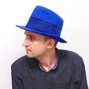 Аксессуары handmade. Livemaster - original item Blue hat