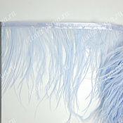 Материалы для творчества handmade. Livemaster - original item Copy of Trim of ostrich feathers 10-15 cm light-blue. Handmade.