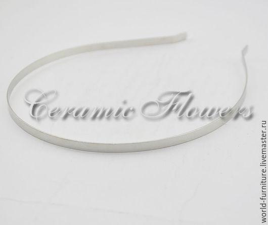 Для украшений ручной работы. Ярмарка Мастеров - ручная работа. Купить Ободок тонкий 5 мм, цвет серебро. Handmade.