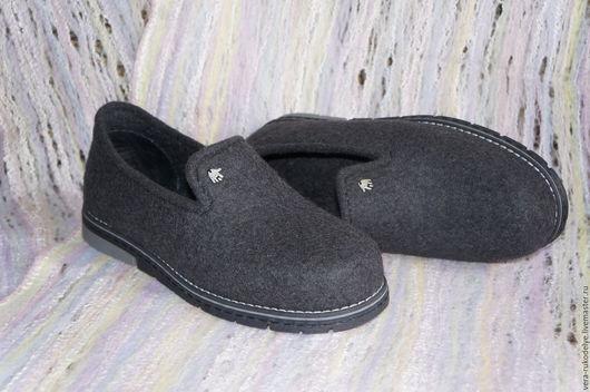 """Обувь ручной работы. Ярмарка Мастеров - ручная работа. Купить Туфли мужские валяные """"Карьера"""". Handmade. Валяная обувь"""