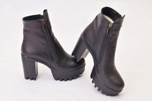 Обувь ручной работы. Ярмарка Мастеров - ручная работа. Купить Ботинки  женские зима. Handmade. Черный, осенние ботинки