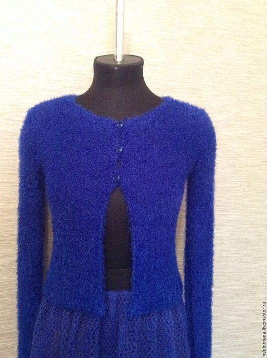 """Пиджаки, жакеты ручной работы. Ярмарка Мастеров - ручная работа. Купить Жакет """" От Дианы"""". Handmade. Тёмно-синий"""
