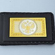 Сумки и аксессуары handmade. Livemaster - original item Business card holder leather