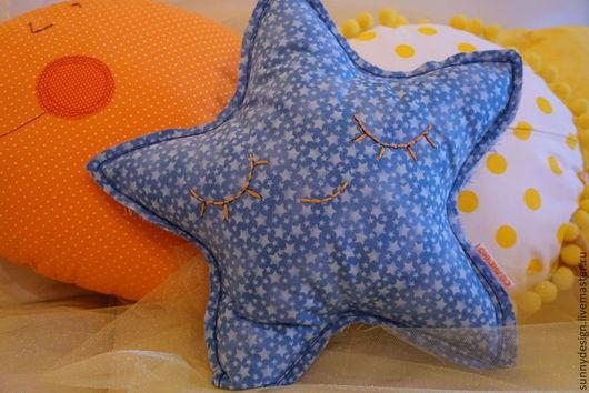Детская ручной работы. Ярмарка Мастеров - ручная работа. Купить Подушка игрушка Звездочка. Handmade. Синий, звезда, подушка-игрушка