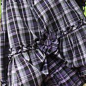 Одежда ручной работы. Ярмарка Мастеров - ручная работа Юбка в фиолетовую клетку. Handmade.